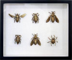 Kunstlijst - Insecten - Messing  - 3D - HK Living
